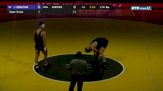 174 lbs m, Johnny Sebastian, Northwestern vs Kaleb Young, Iowa