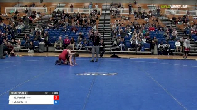 123 lbs Semifinal - Dominique Parrish, Simon Fraser University vs Abby Nette, Emanuel College