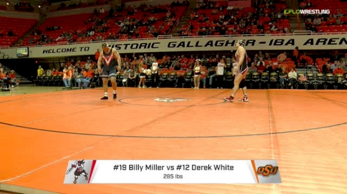 285 lbs Billy Miller, Edinboro vs Derek White, Oklahoma State