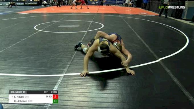 125 lbs Round of 16 - Louie Hayes, Virginia vs Michael Johnson, N. Colorado