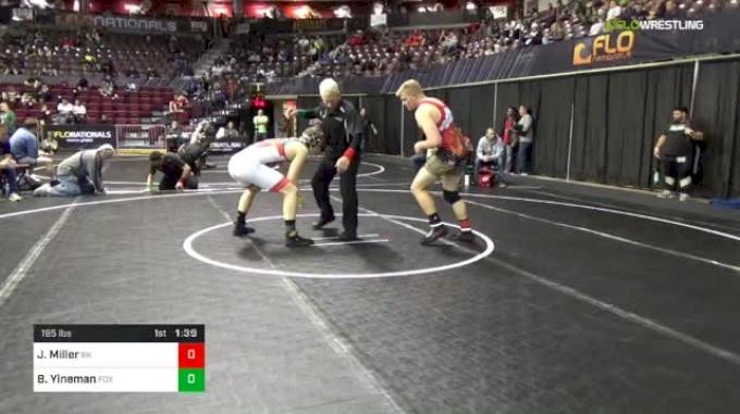 195 lbs Round Of 32 - Jarod Miller, Bad Karma vs Beau Yineman, Fox Valley Elite