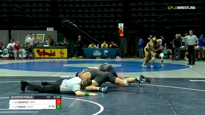 285 lbs Quarterfinal - Joey Goodhart, Drexel vs Jacob Kasper, Duke