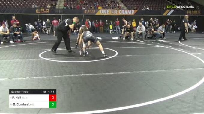 132 lbs Quarterfinal - Peyton Hall, Gladiators vs Dawson Combest, Indiana