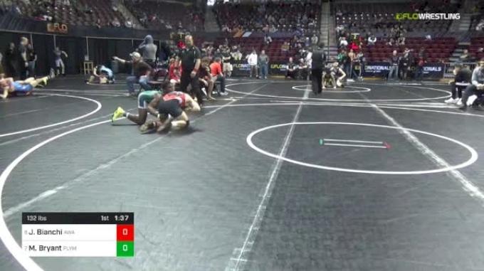 132 lbs Round Of 16 - Joey Bianchi, Askren Wrestling Academy vs Manzona Bryant, Plymouth