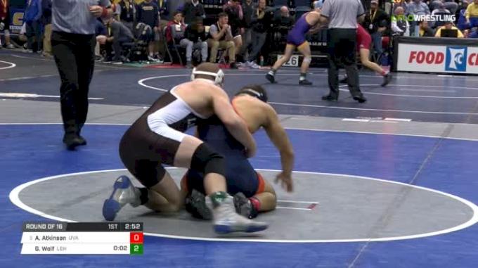 165 lbs Round of 16 - Andrew Atkinson, Virginia vs Gordon Wolf, Lehigh