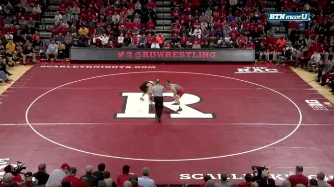 174 m, Joey Gunther, Iowa vs Joe Grello, Rutgers