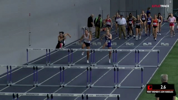 Women's Pentathlon 60m Hurdles, Heat 1
