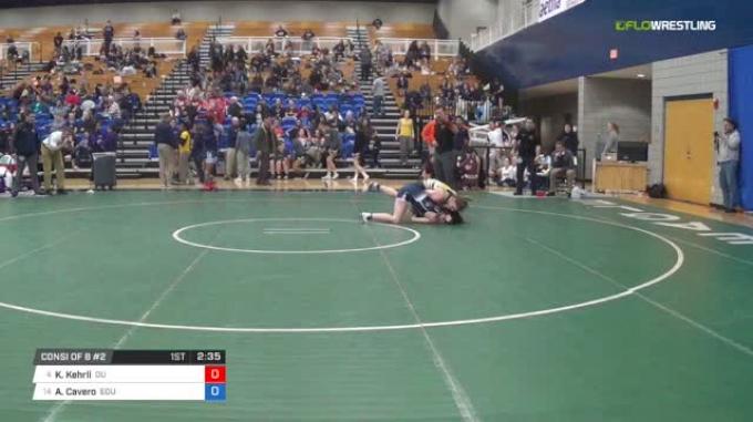 155 lbs Consi of 8 #2 - Kendra Kehrli, Ottawa University W vs Alexis Cavero, Eastern Oregon University