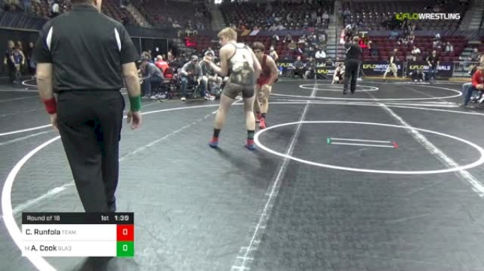 138 lbs Round Of 16 - Chase Runfola, Team X vs Alec Cook, Gladiators