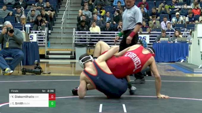 141 lbs Final - Yianni Diakomilhalis, Cornell vs Tyler Smith, Bucknell