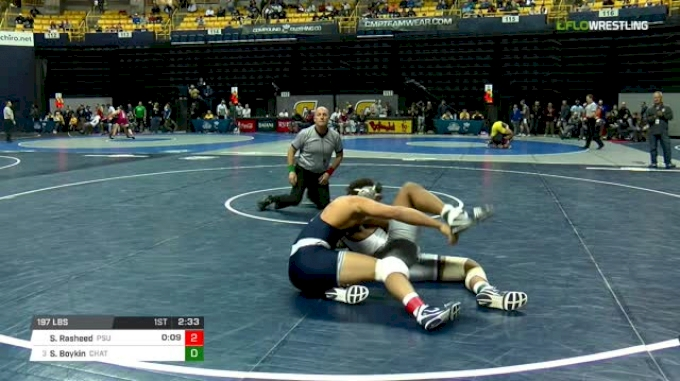 197 lbs Quarterfinal - Shakur Rasheed, Penn State vs Scottie Boykin, Chattanooga
