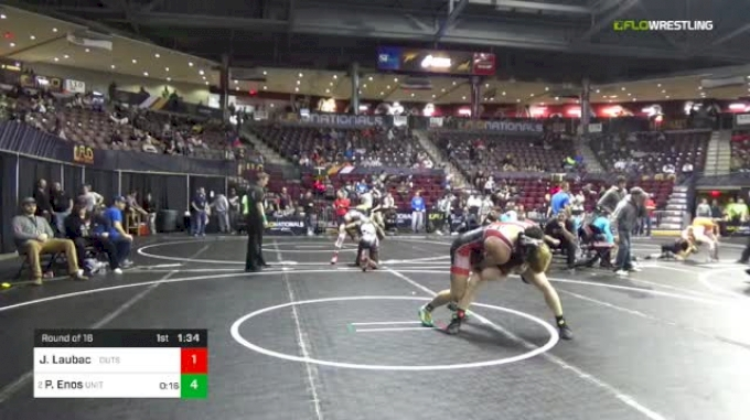 145 lbs Round Of 16 - Josh Laubach, Outsiders vs Peter Enos, United States Wrestling Academy