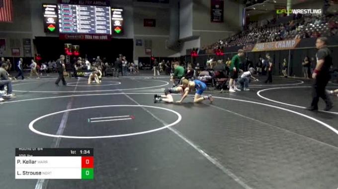 106 lbs Round Of 64 - Peyten Kellar, Warren High School Vincent Ohio vs Liam Strouse, Northern York