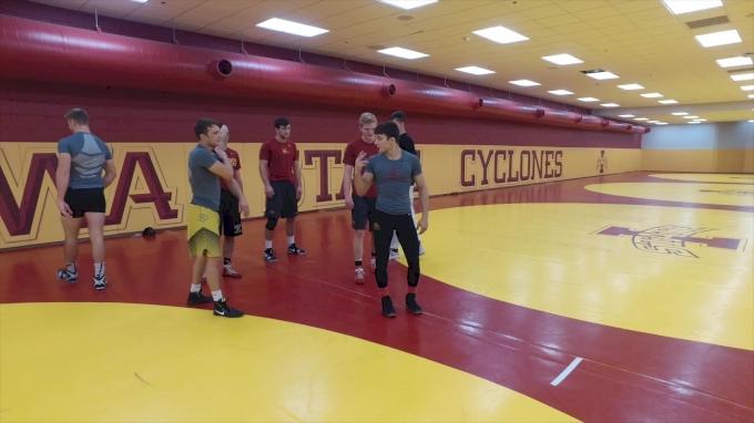 Mike Zadick Leads Cyclone Workout