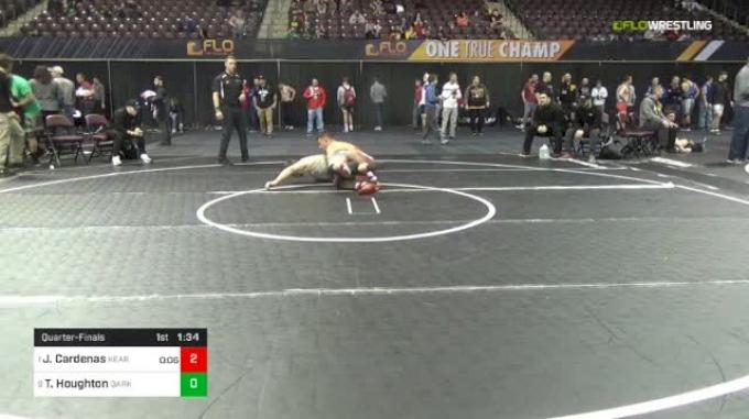 195 lbs Quarterfinal - Jacob Cardenas, Kearny NJ vs Tyrie Houghton, Darkhorse