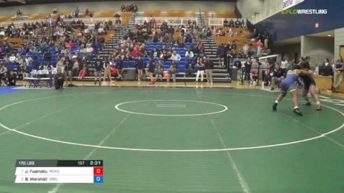 170 lbs Quarterfinal - Janelle Fuamatu, McKendree University vs Brittany Marshall, Wayland Baptist University W