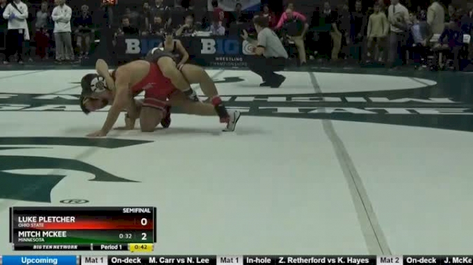 133 lbs Semifinal - Luke Pletcher, Ohio State vs Mitch McKee, Minnesota