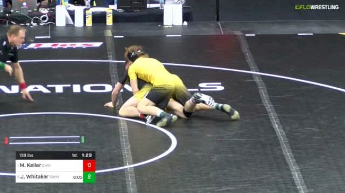 138 lbs Final - Marshall Keller, Christiansburg vs James Whitaker, Simmons Academy Of Wrestling