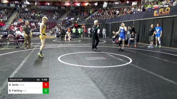 126 lbs Round Of 64 - Blake Saito, Team Miron vs Bennie Fielding, Stuttgart High School DoD