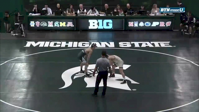 157lbs: Jake Tucker, Michigan State vs Mac Tanner, Clarion