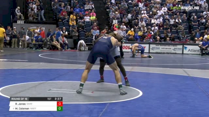184 lbs Round of 16 - Rodney Jones, Chattanooga vs Michael Coleman, Navy