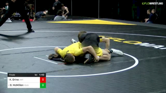 113 lbs Final - Kai Orine, United States Wrestling Academy vs Brock McMillen, Young Guns Wrestling Club