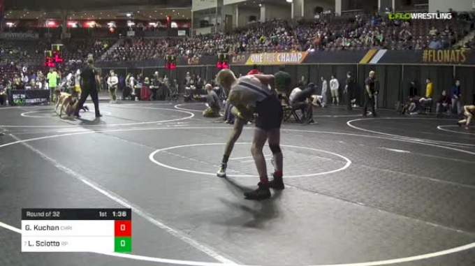 113 lbs Round Of 32 - Garrett Kuchan, Christiansburg vs Logan Sciotto, Rocky Point HS