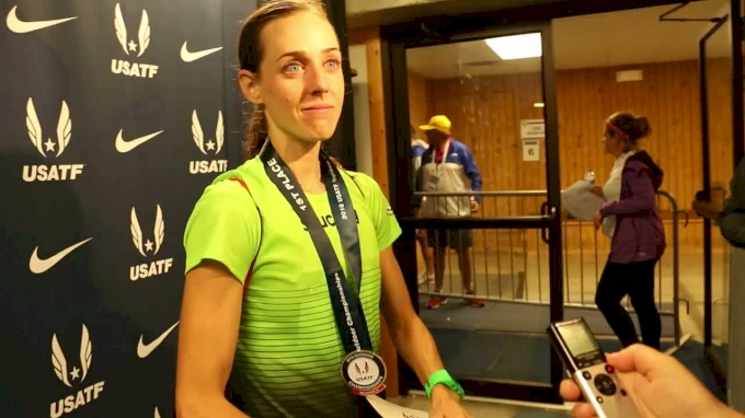 Molly Huddle After Fourth Consecutive USATF 10K Victory