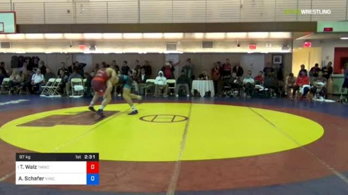 97 kg Quarterfinal - Ty Walz, TMWC vs Austin Schafer, Nyac/flwc