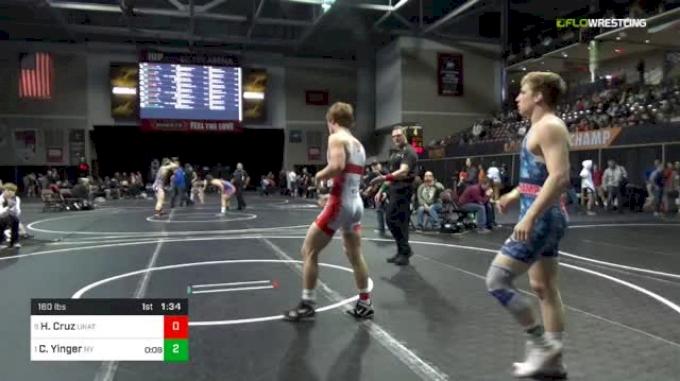 160 lbs Quarterfinal - Hunter Cruz, Unattached vs Colt Yinger, Nelsonville-York