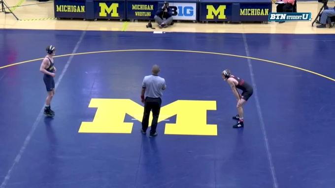 125 m, Drew Mattin, Michigan vs Mitchell Maginnis, Nebraska