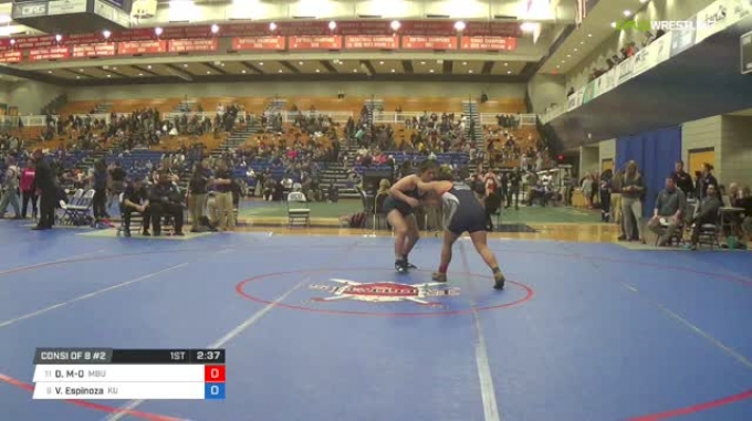 191 lbs Consi of 8 #2 - Darcie Manning-O'Brien, Missouri Baptist University vs Victoria Espinoza, King University W