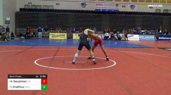 125 lbs Semifinal - Noah Baughman, Cornell vs Trey Chalifoux, Army