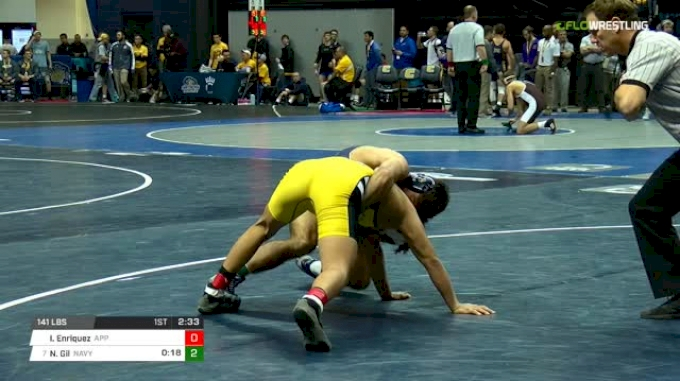 141 lbs Round of 16 - Irvin Enriquez, Appalachian State vs Nic Gil, Navy