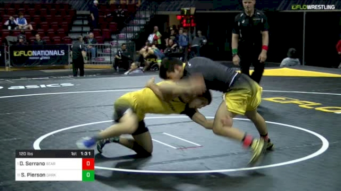 120 lbs Final - Dominick Serrano, BearCave vs Sean Pierson, Dark Knights