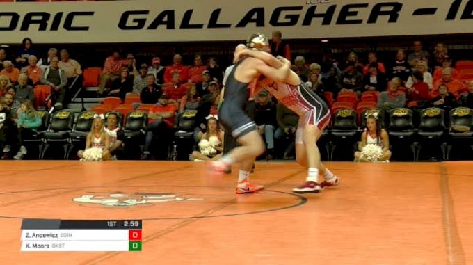 184 lbs Zach Ancewicz, Edinboro vs Keegan Moore, Oklahoma State