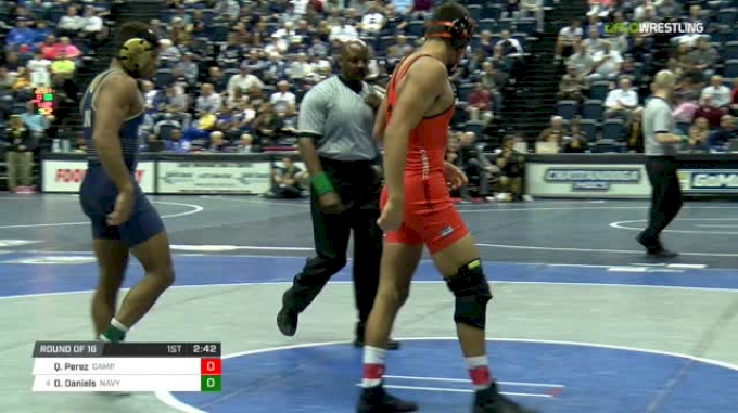 165 lbs Round of 16 - Quentin Perez, Campbell vs Drew Daniels, Navy